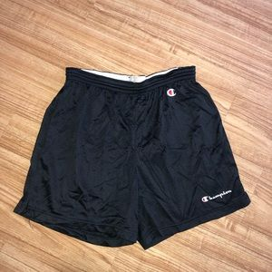 Men's Vintage Black Champion Basketball Shorts